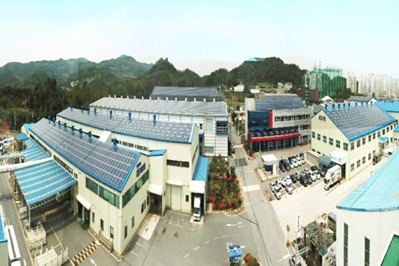 Dayou solar power generator panoramic view (Sochon-dong, Gwangju)